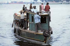 Passenger boat in the port of Abidjan