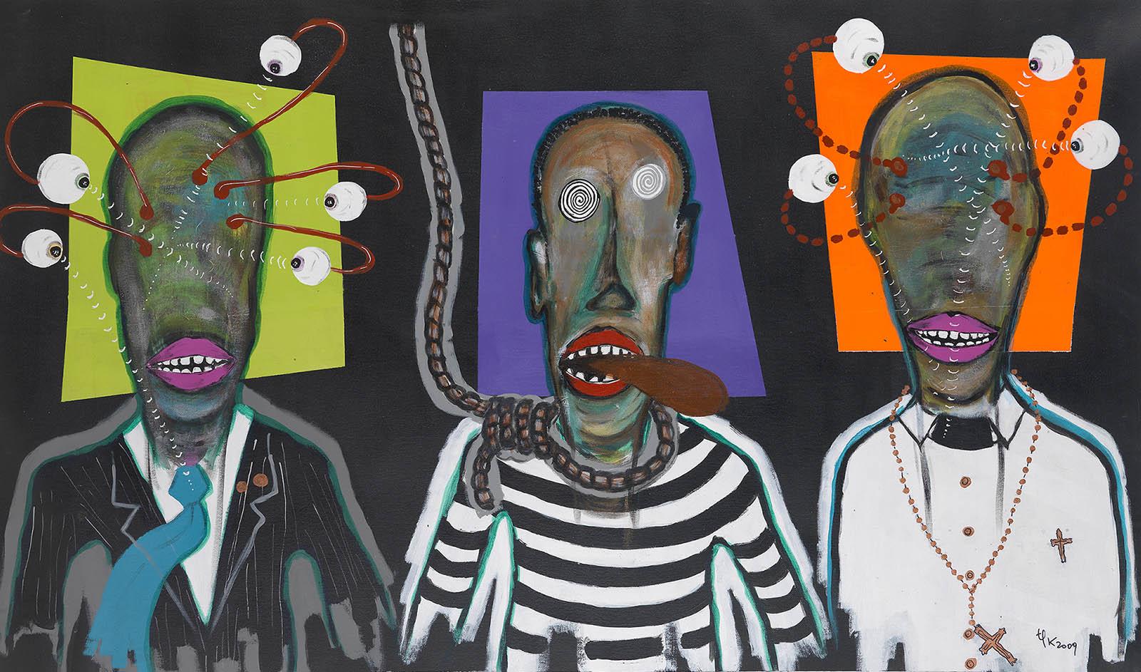 Pathy-Tshindele-Sans-titre-2009-Acrylique-sur-toile-104-x-174-cm-Photo-Kleinefenn