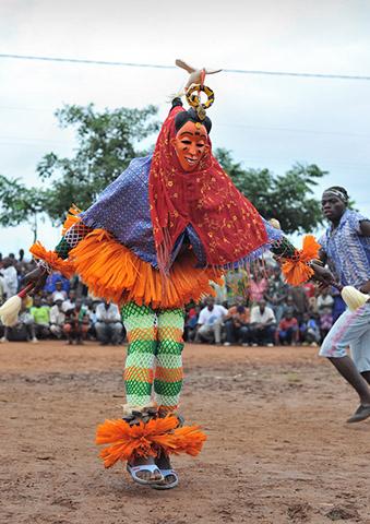 glozran festival - gouro masks