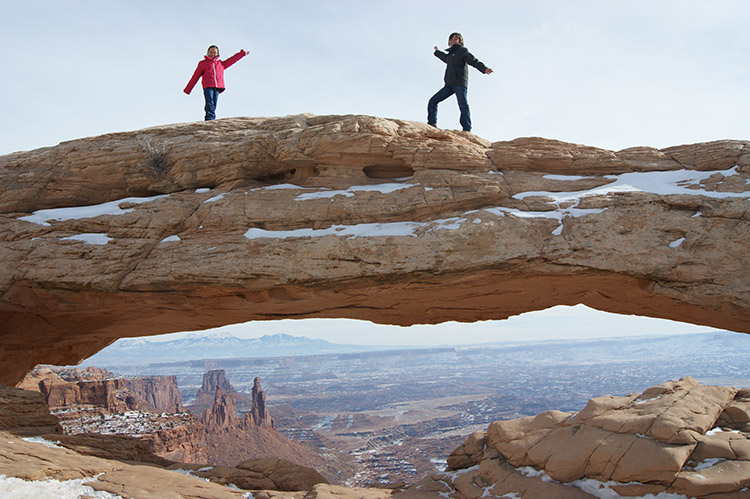Mesa Arch in the Canyonlands