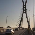 View of the bridge between Ikoyi island and Lekki, built by the company Julius Berger, in Lagos, Nigeria,