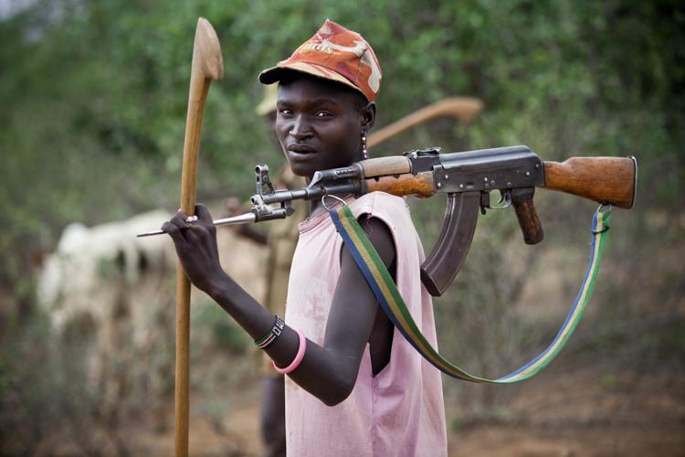 Jeune guerrier Turkana