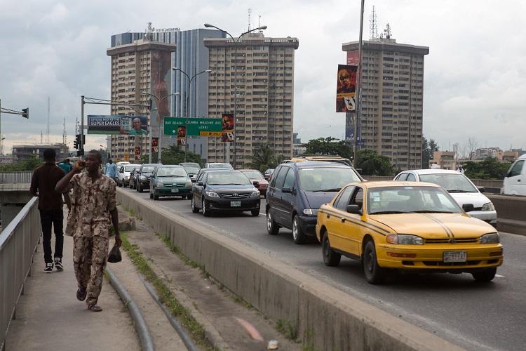 A view on the bridge from Victoria Island to Ikoyi Island, Lagos, Nigeria