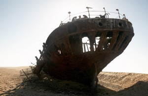 Wreck of Eduard Bohlen now lies 400m away from the sea shore
