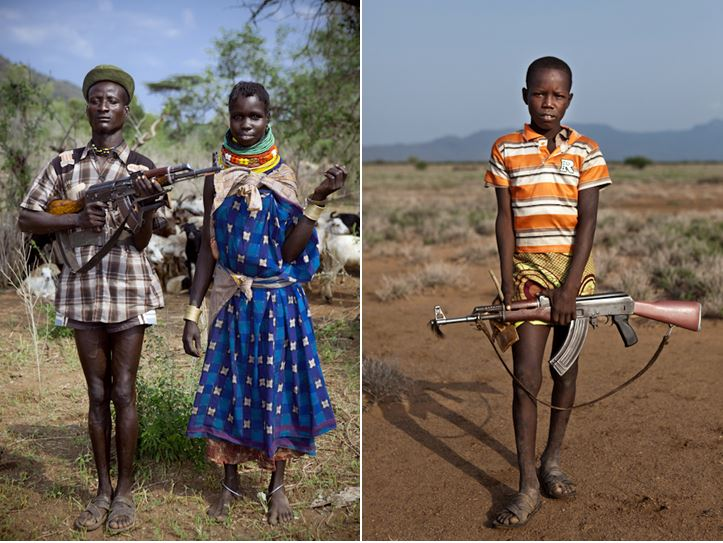enfants de la tribu Turkana