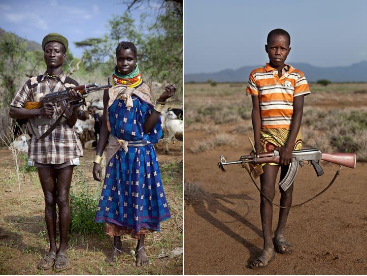 turkana children with weapons