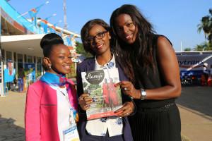 Kh adydja, Stella et Kim berley au KBM 2015 à Lubumbashi, RDC