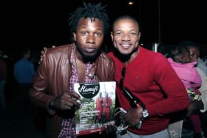 Mustashe et Franck Tamb we au lancement de Booster par Brasimba