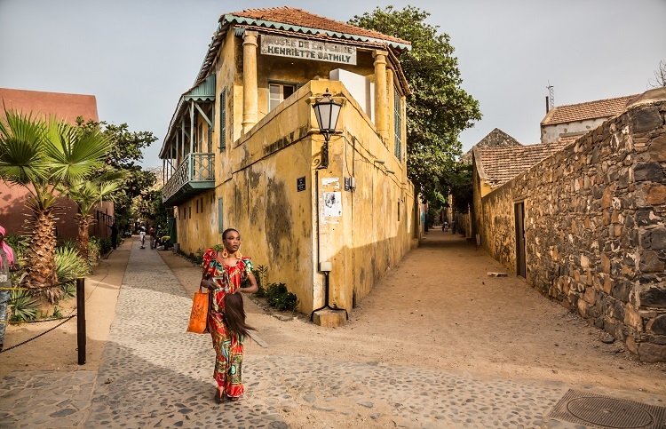 The streets of Goree island Senegal