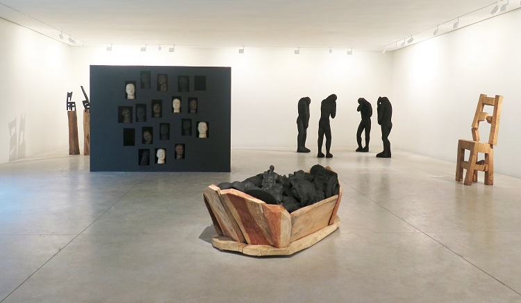 No man's land, artwork from the exhibition, Galerie Cécile Fakhoury - Abidjan