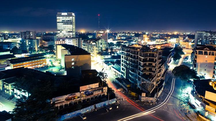 View of Kinshasa from Chacha Bar