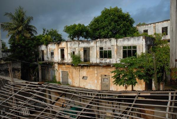 building, grand bassam, ivory coast