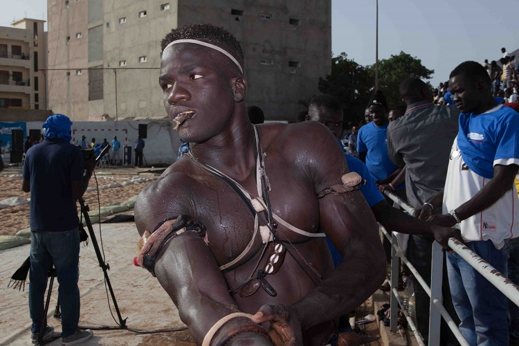 Wrestler in Senegal, Africa