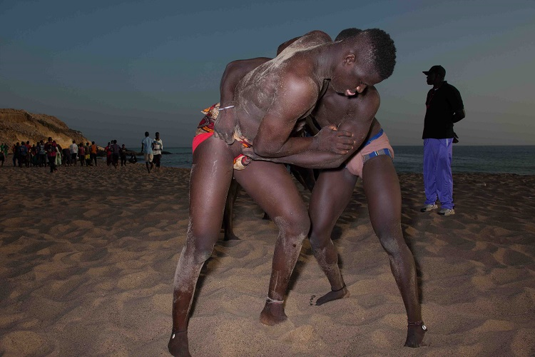 Wrestlers training in Senegal, Africa