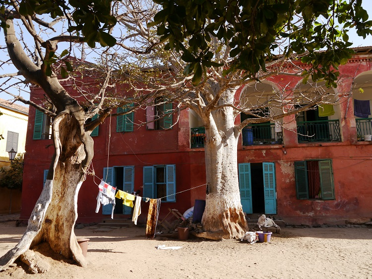 Gorée on the courtyard side