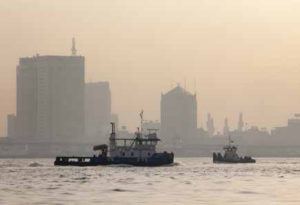 A view on Apapa port, Lagos, Nigeria, on May 19th, 2014. / Une vue sur le port d'Apapa, Lagos, Nigeria, le 19 mai 2014.