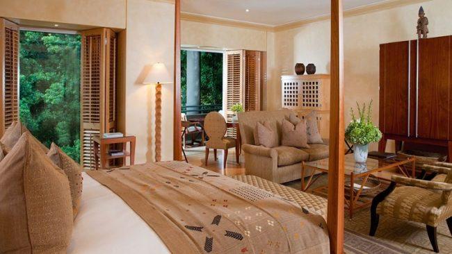 Chambre à l'hotel Saxon Johannesbourg