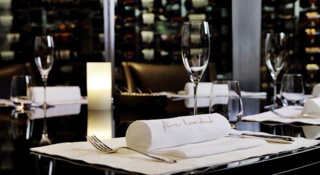 Fine dining at Saxon Hotel, Johannesburg
