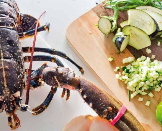 Lobster tarragon's steamed