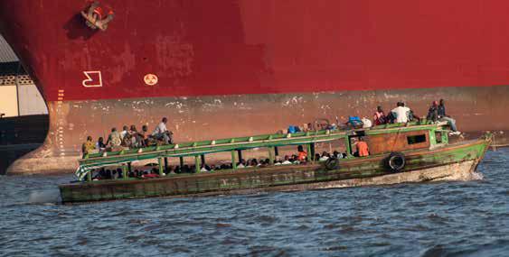River transport in Abidjan, Ivory Coast. photo by Nabil Zorkot