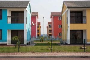 "The ""Cité du Fleuve"", a new upper class private compound, still under construction, in Kinshasa, the capital of the Democratic Republic of the Congo."