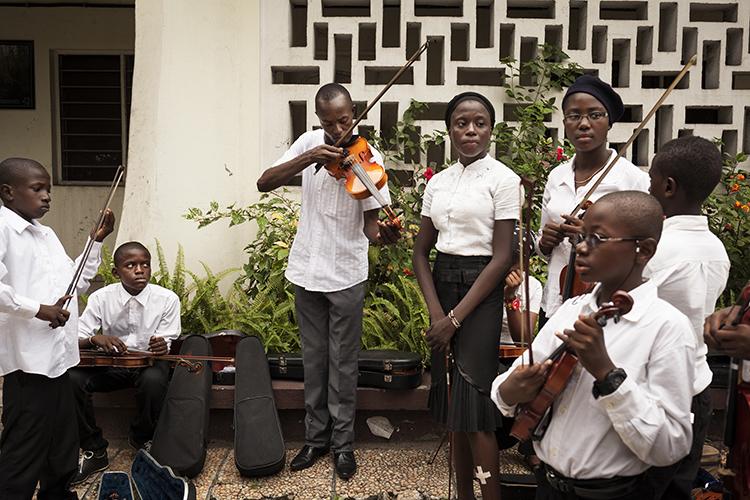 représentation de l'orchestre des enfants