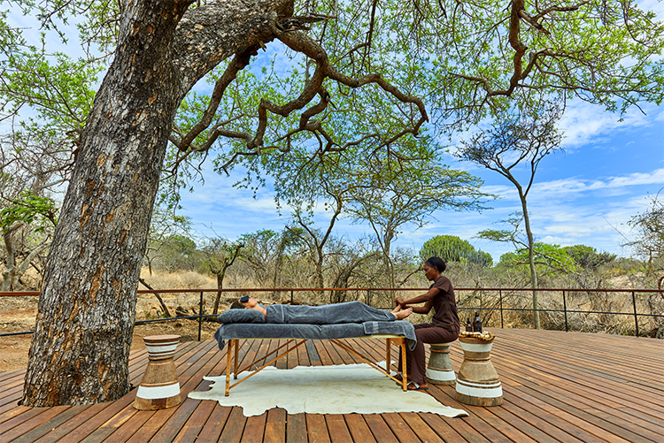 Massage at Mwiba Lodge