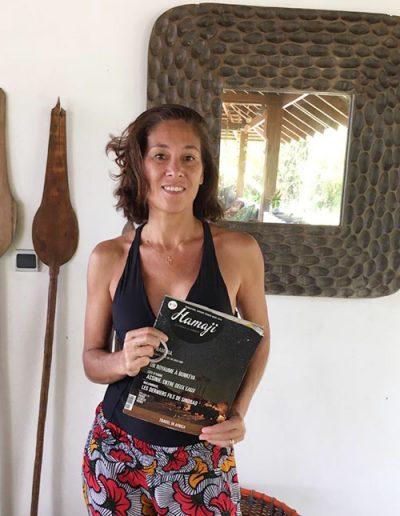 Yoko Léglise, surfeuse, Assinie, Côte d'Ivoire